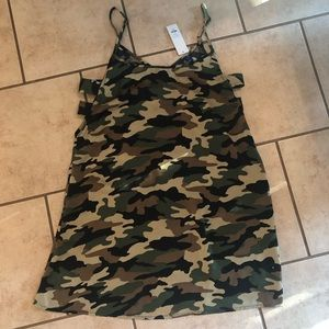 NWT Francesca's Camo Side Cut Out Tank Dress
